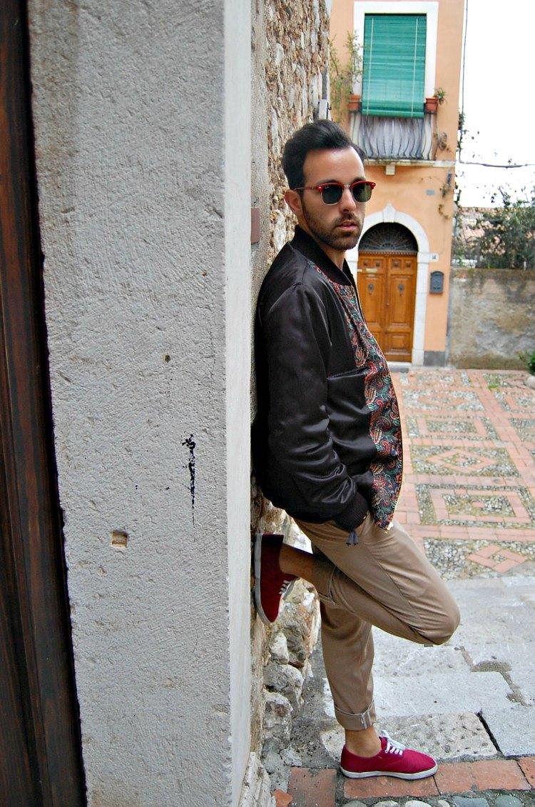 04 fashion taormina blogger 10third asks ralph lauren sweater sunglasses rayban