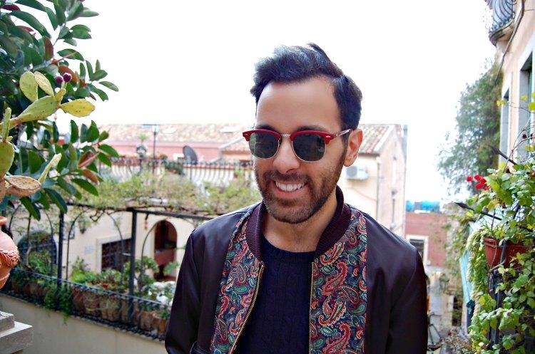 06 fashion taormina blogger 10third asks ralph lauren sweater sunglasses rayban