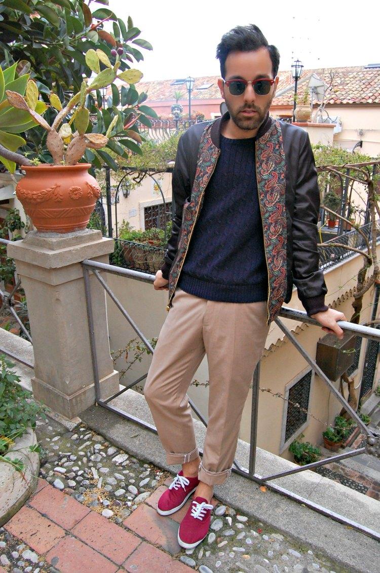07 fashion taormina blogger 10third asks ralph lauren sweater sunglasses rayban