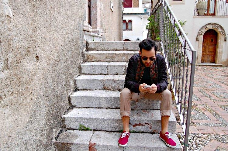 09 fashion taormina blogger 10third asks ralph lauren sweater sunglasses rayban