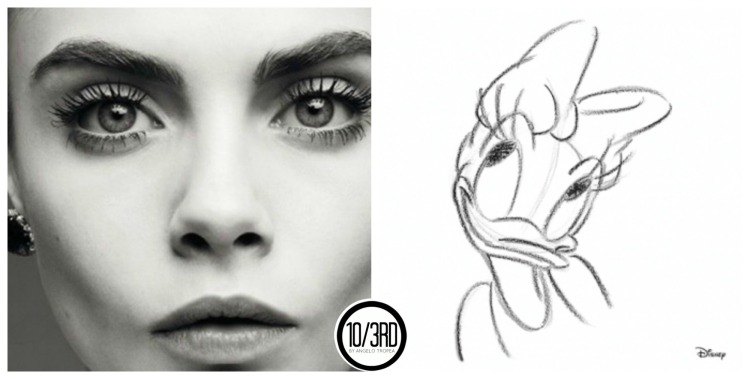 1 collage CARA DELEVIGNE DAISY DUCK 103d angelo tropea disney