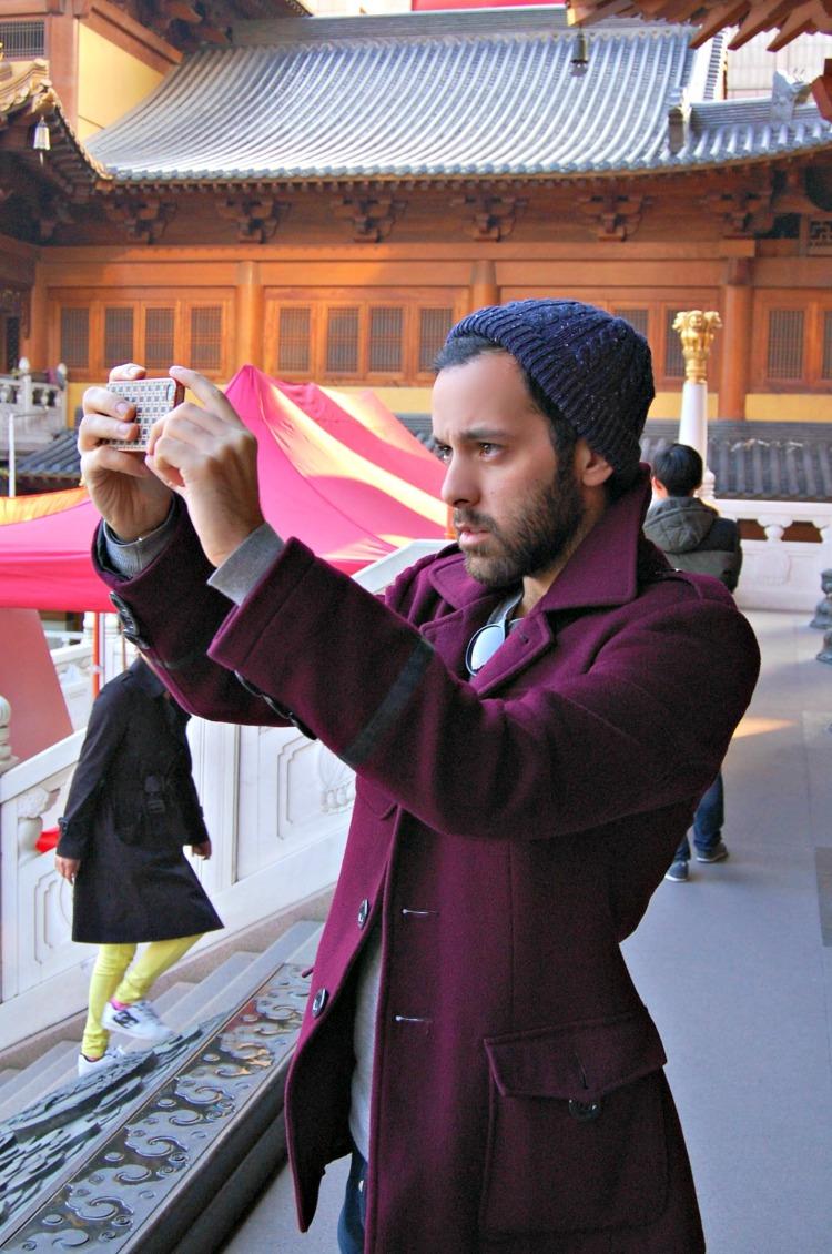 14 blogger shanghai fashion purple hot cute