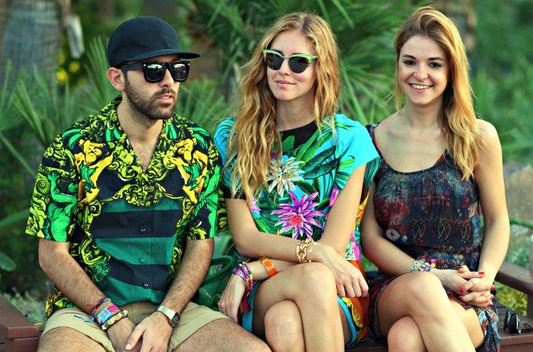 14 california fashion coachella palm blogger springs lanvin h&m prada print msgm shirt dress hot chiara ferragni