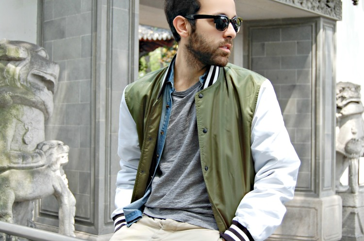 14 college jacket varsity asos fashion sunglasses blogger starbucks prada