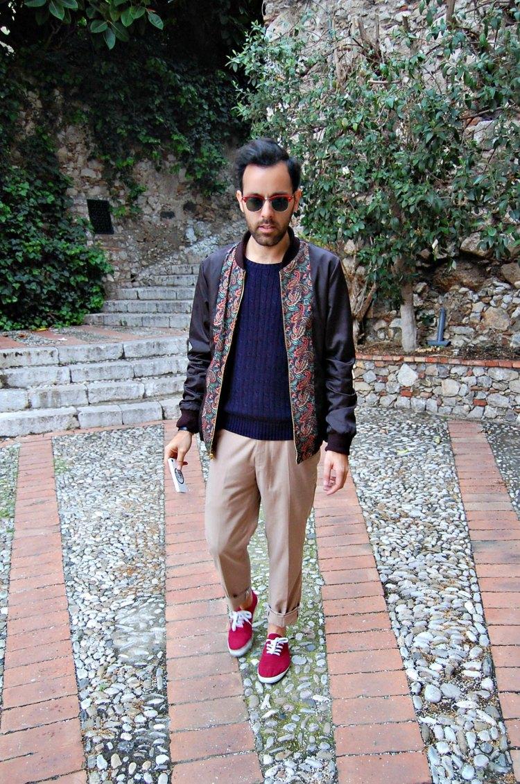 14 fashion taormina blogger 10third asks ralph lauren sweater sunglasses rayban