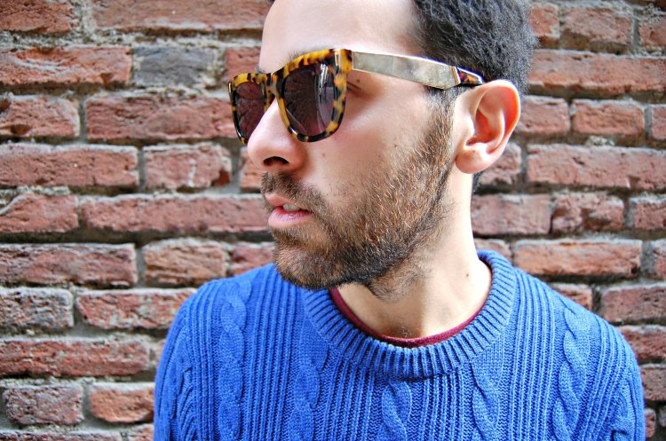 15 super H&M blue april 77 sunglasses fashion 10third blogger vans