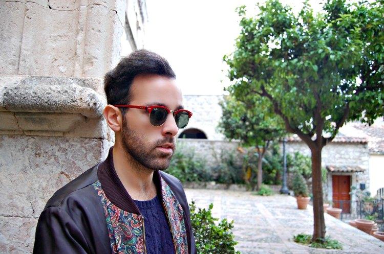 19 fashion taormina blogger 10third asks ralph lauren sweater sunglasses rayban