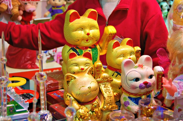 cats shanghai toys fun gold lack