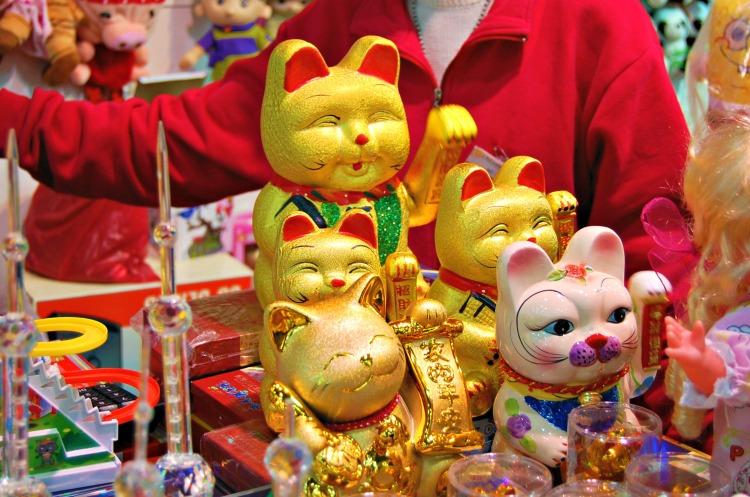 cats shanghai toys fun gold lack