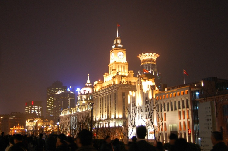 people fun shanghai boy girls lights buildings