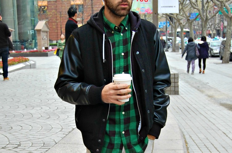 shanghai check shirt starbucks leather varsity jacket ralph lauren hot