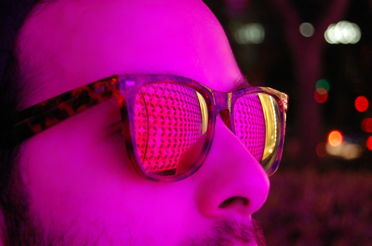 shanghai fashion angelo tropea blogger lights pink fashion sunglasses
