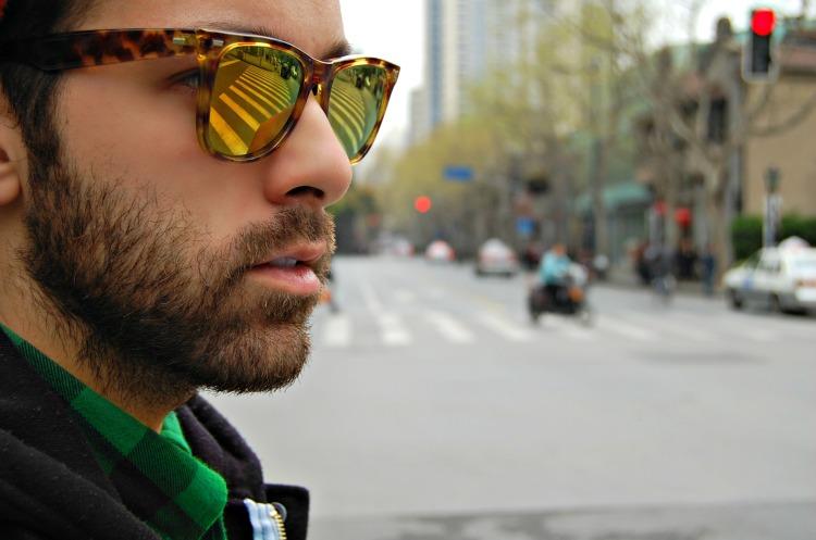 shanghai hot sunnies check shirt spektre occhiali specchiati