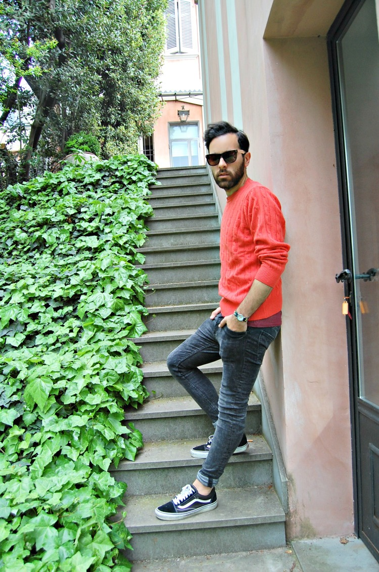 02 10third fashion italian blogger super h&m skinny vans puppy doggie french bulldog