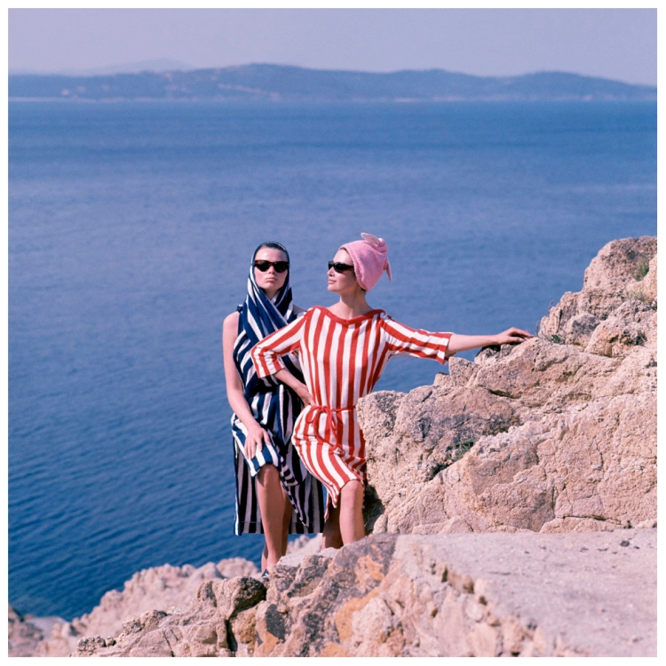 catherine-and-anka-at-saint-tropez-for-elle-magazine-saint-tropez-1961-photo-georges-dambier